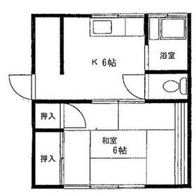 木下アパート2階Fの間取り画像