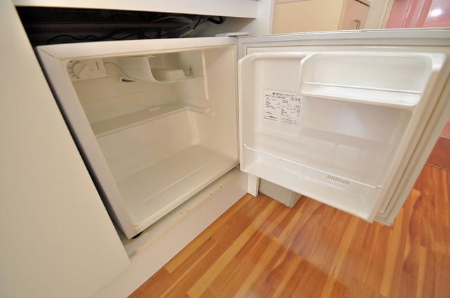 ハイツせせらぎ 嬉しいミニ冷蔵庫付きです。家電代1つ分浮きましたね。