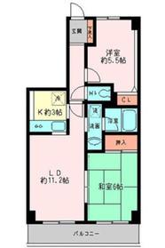 グレイスコート二俣川弐番館4階Fの間取り画像