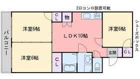 グランドHマンション5階Fの間取り画像