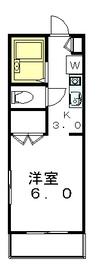 メゾンスズエン2階Fの間取り画像