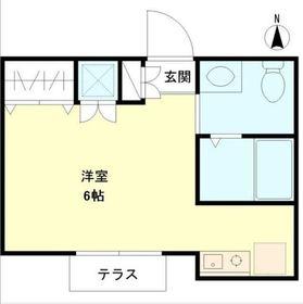 カルム吉祥寺1階Fの間取り画像