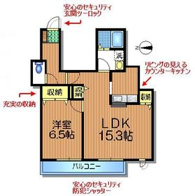 池ノ上駅 徒歩8分2階Fの間取り画像