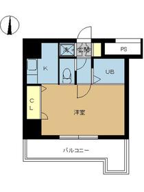 スカイコート神田第32階Fの間取り画像