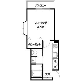 オレンジハイム桜ヶ丘1階Fの間取り画像