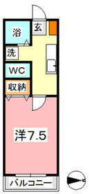 たなかハイツ Ⅲ1階Fの間取り画像