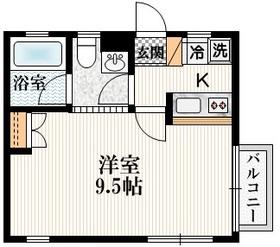 新宿駅 徒歩15分2階Fの間取り画像