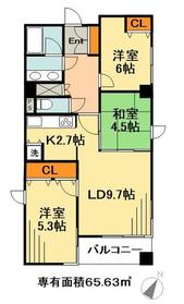 LANAI15212階Fの間取り画像