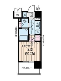 ヴェルステージ川崎4階Fの間取り画像