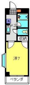 武蔵中原駅 徒歩10分3階Fの間取り画像