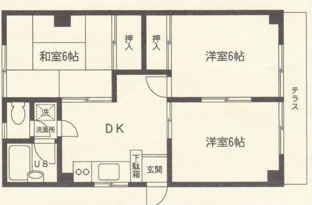 希望ヶ丘駅 徒歩5分間取図
