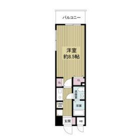 レジディア天神橋9階Fの間取り画像