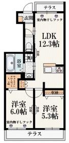 (仮称)福島町3丁目メゾン1階Fの間取り画像