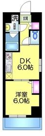 ヌーベルメゾン三嘉2階Fの間取り画像