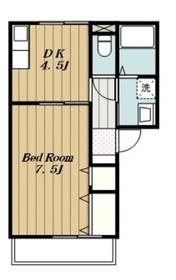 ベルレージュ211階Fの間取り画像