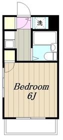 山康ビル4階Fの間取り画像