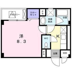 ベルメゾン 丸松2階Fの間取り画像