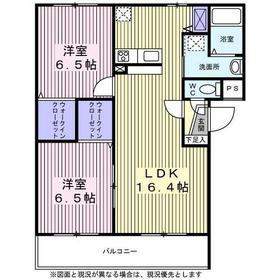 コンフォール・S萩野町2階Fの間取り画像