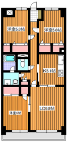 ルシオール赤塚4階Fの間取り画像