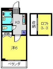 コルディアODA2階Fの間取り画像