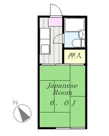 コーポエイト1階Fの間取り画像