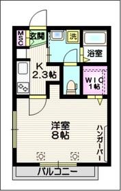 アジュール22階Fの間取り画像
