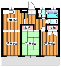 地下鉄成増駅 徒歩12分3階Fの間取り画像