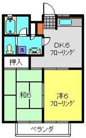 コーポNK2階Fの間取り画像
