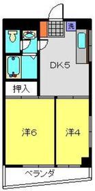 メゾンドールFOCD2階Fの間取り画像