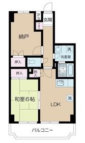セレブラール戸田2階Fの間取り画像