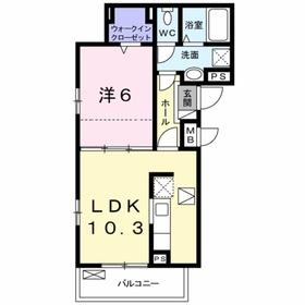 アイヴィレッジⅢ2階Fの間取り画像