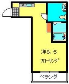 第4三基ビル3階Fの間取り画像