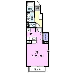 フランベル壱番館1階Fの間取り画像