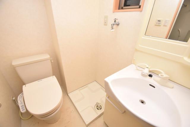 セレブ西上小阪 嬉しい室内洗濯機置場。これで洗濯機も長持ちしますね。