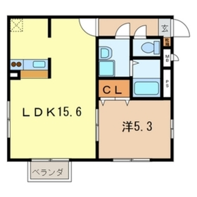 アムール20111階Fの間取り画像