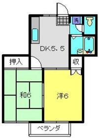 大倉山駅 徒歩13分2階Fの間取り画像