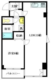 山﨑ビル5階Fの間取り画像