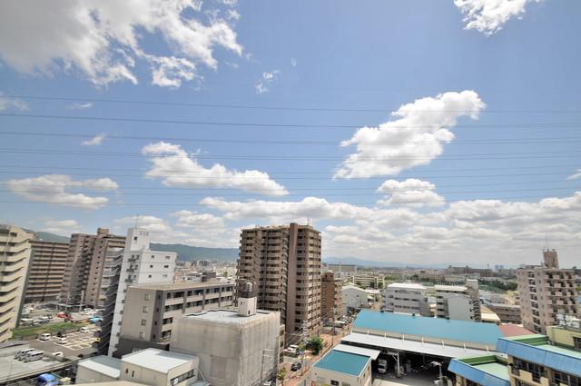 ゼファー東大阪 この見晴らしが日当たりのイイお部屋を作ってます。