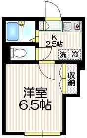 Eフラット1階Fの間取り画像
