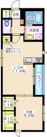 ソレイユ横濱2階Fの間取り画像