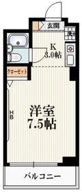 参宮橋駅 徒歩4分2階Fの間取り画像