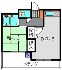 クレストⅡ3階Fの間取り画像