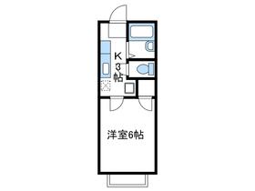 石井ハイツⅡ1階Fの間取り画像