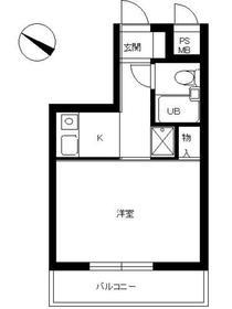 スカイコート新宿第104階Fの間取り画像