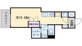 レジディア西新5階Fの間取り画像