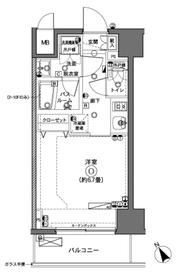 ZOOM横浜11階Fの間取り画像