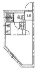 牛込神楽坂駅 徒歩14分4階Fの間取り画像