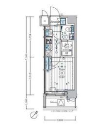 リライア横濱関内2階Fの間取り画像