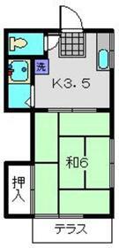 第3鈴木コーポ1階Fの間取り画像