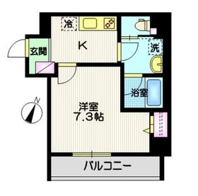 江古田駅 徒歩3分4階Fの間取り画像